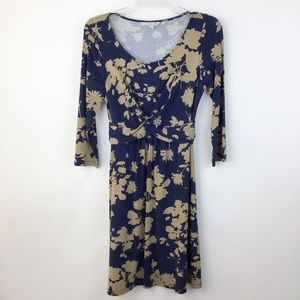 Boden Emma Tunic Navy Floral Dress 6 R (1654)
